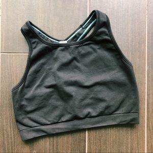 Lululemon girl's black sports bra
